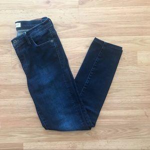Madewell Mid-rise Blue Skinny Jean